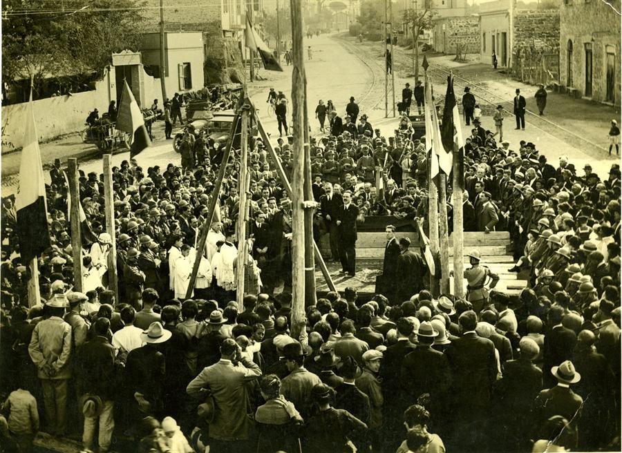 24 ottobre 1924. Posa prima pietra Monumento ai Caduti