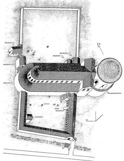 Ricostruzione della basilica (vista dall'alto)