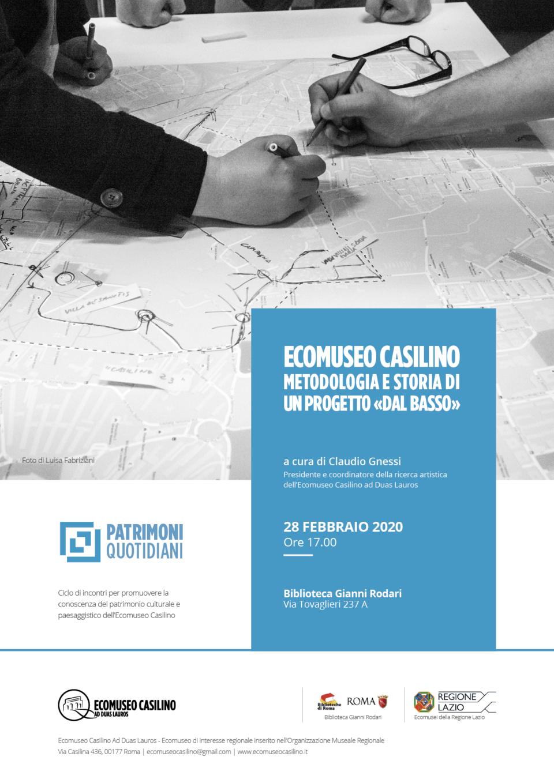 """Inizia il viaggio di """"Patrimoni quotidiani"""", un percorso di promozione della conoscenza del patrimonio culturale dell'Ecomuseo Casilino ad Duas Lauros."""