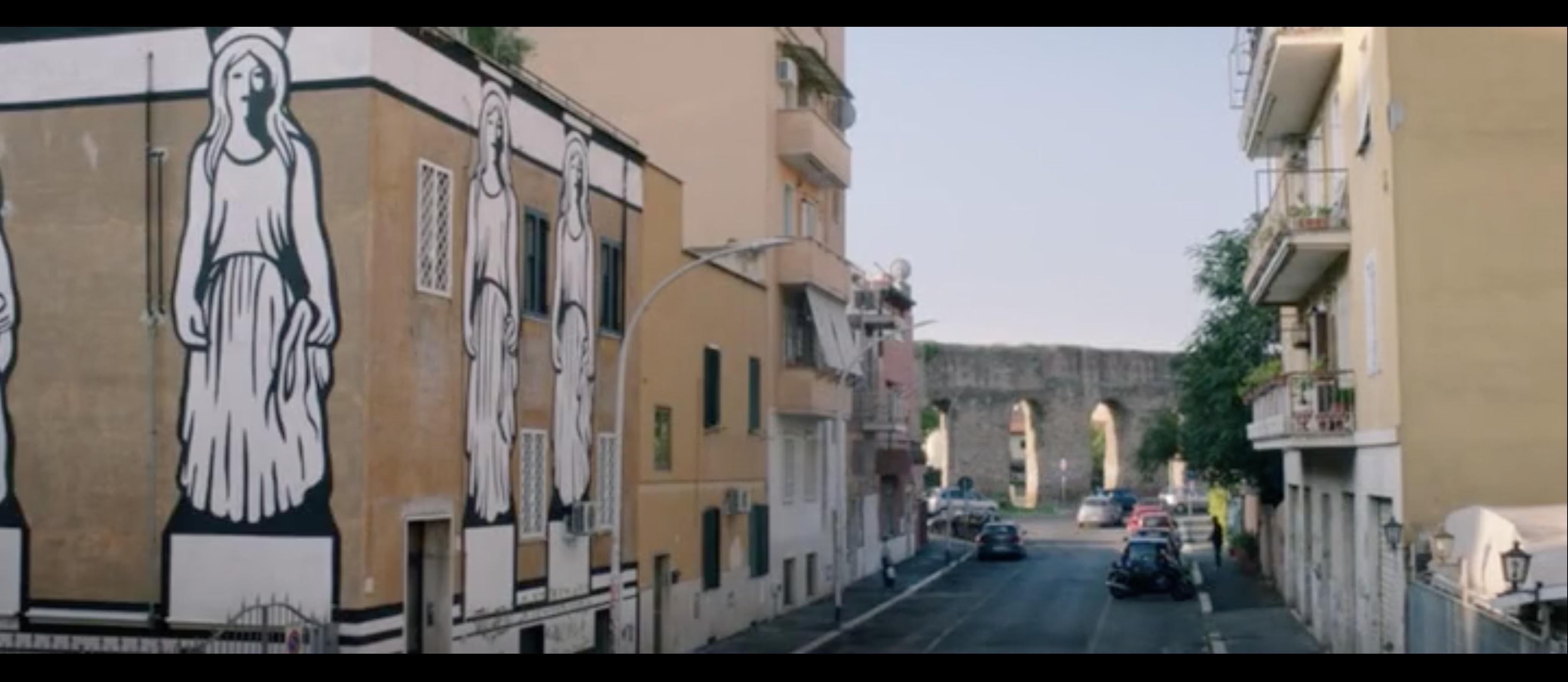 L'Acquedotto Alessandrino, visto da via Amedeo Cencelli